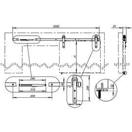 Открытая система Armadillo (Армадилло) для раздвижных дверей SUPERVISION/100 (HX-23 With Soft Close)